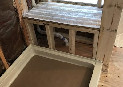 Shower with Seat Build