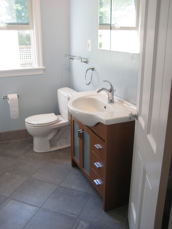 Bathroom Remodel 50 S Style To Contemporary Maryland