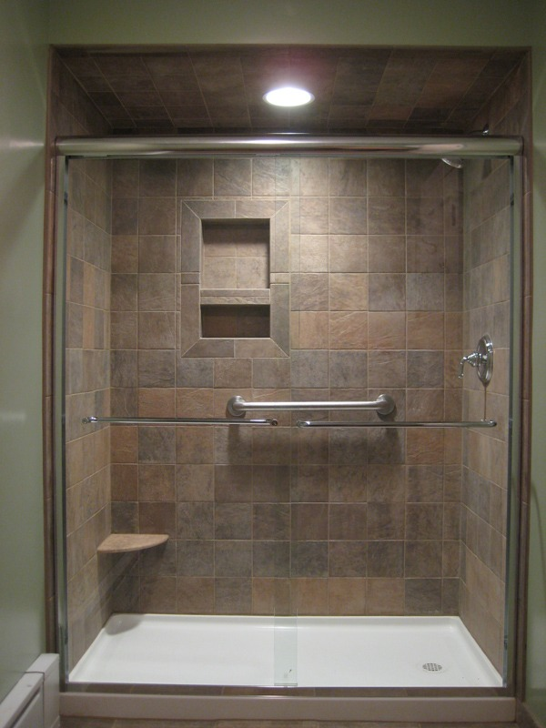Bathroom remodel tub to shower 1 for Bathroom ideas with tub and shower