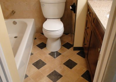 Bathroom Remodel - Brown to Black and Cherry