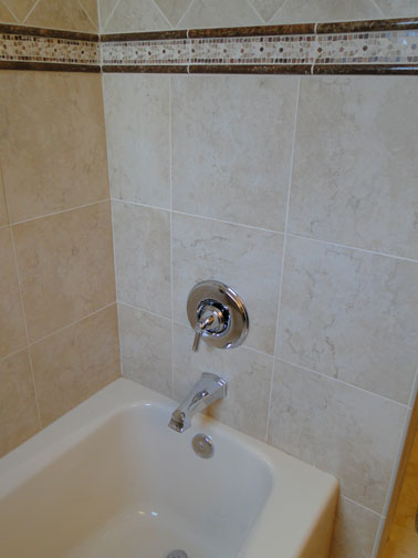 Bathroom Remodel - Larger Shower with Diamonds